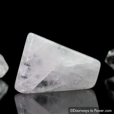 Original White Azeztulite Polished & Tumbled Stone Crystal