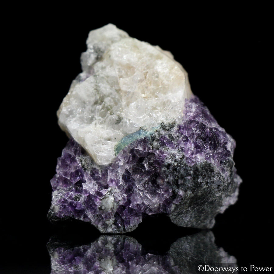 Russian Phenacite Aquamarine Purple Fluorite Crystal Specimen