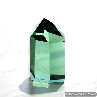 John of God Crystal Green Obsidian Casa Crystal Point