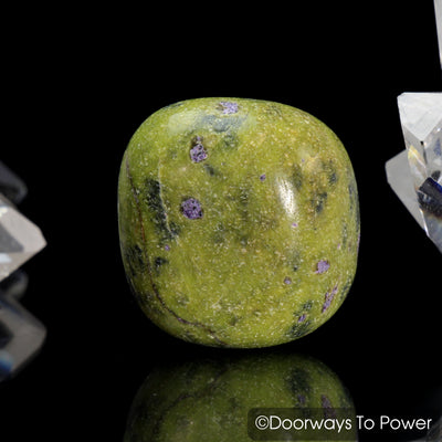 Atlantisite Tumbled & Polished Stone (Serpentine & Stichtite)