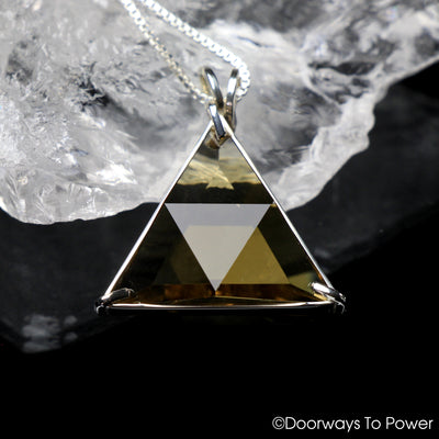 Citrine Star of David Vogel Crystal Pendant