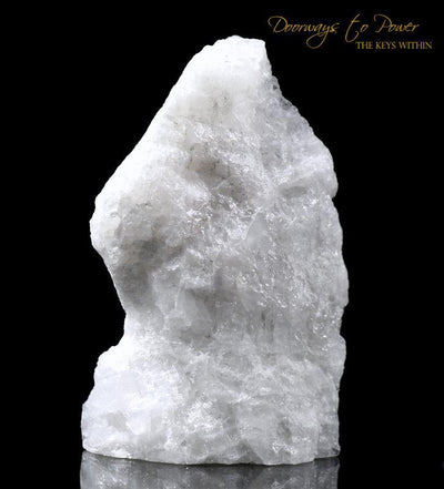 White Azeztulite Crystal Altar Stone 'Higher Realms'