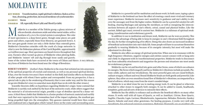Moldavite Properties Book of Stones