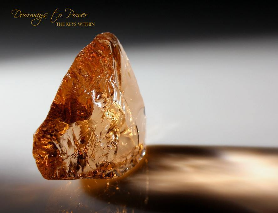 Lemurian Etherium Gold Andara Crystal 'Light Essence'