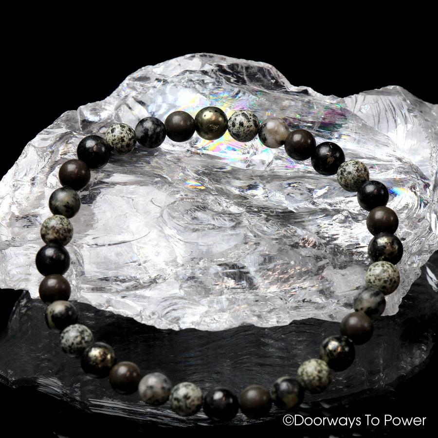 Grounded & Protected 2021 Master Shamanite, Healers Gold, Guardianite and Black Tourmaline Azeztulite Crystal Energy Bracelet