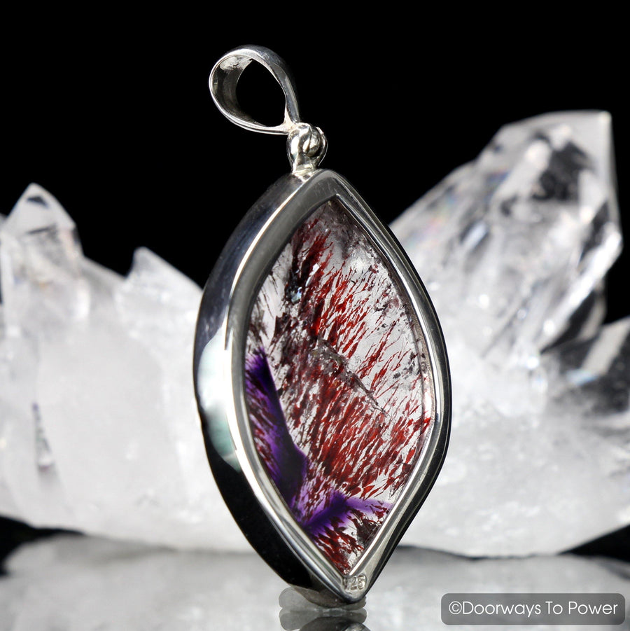 Melody Stone Super 7 Crystal Pendant .925 SS