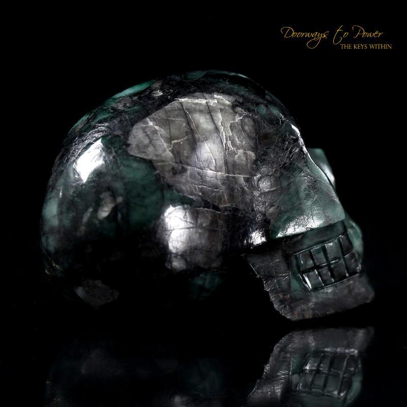 Emerald Akhenaten Elongated Crystal Skull 'Ancient Codes'