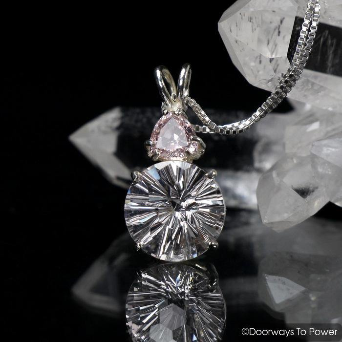 Danburite Sunstone Super Nova Crystal Pendant