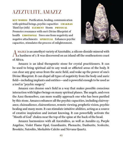 Amazez Azeztulite Metaphysical Properties Meanings - Book of Stones
