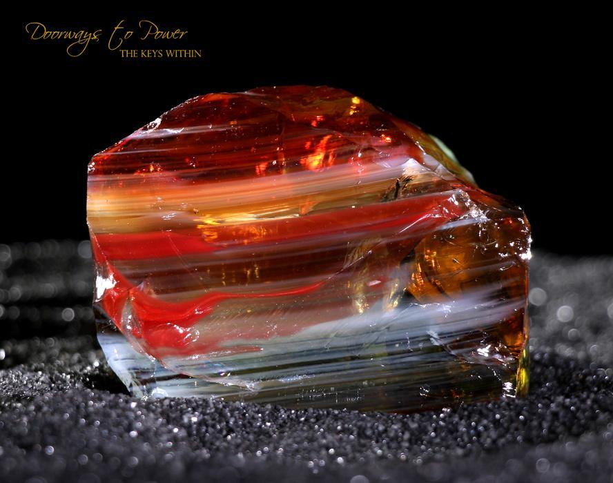 Scarlet Shift Lemurian Sunrise Bi Color Andara Crystal