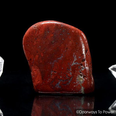 Red Fire Azeztulite Crystal Azozeo Activated (Polished)