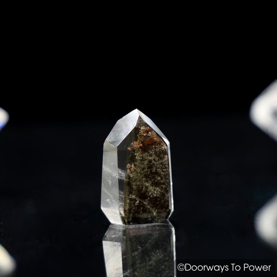 Brookite in Natural Quartz Dow Crystal Point