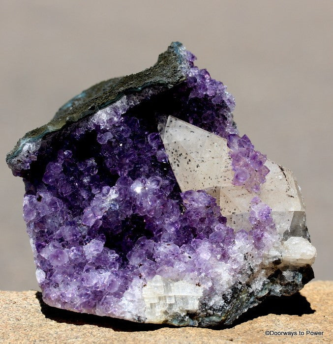 Amethyst Cluster w/ Calcite