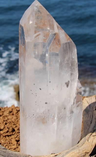 Lemurian Quartz Tantric Twin Crystal with Devic Temple * Reserved for Matthew