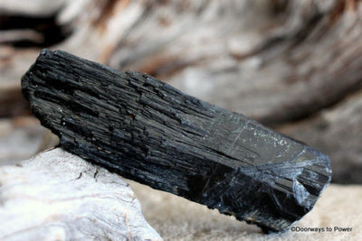Black Tourmaline Crystal Rod
