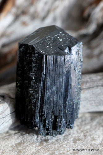 Black Tourmaline with Quartz