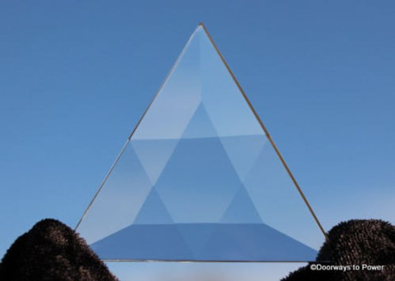 Clear Quartz Star of David Triangle Vogel Crystal (Big)