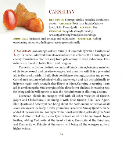 Carnelian Metaphysical Properties Book of Stones