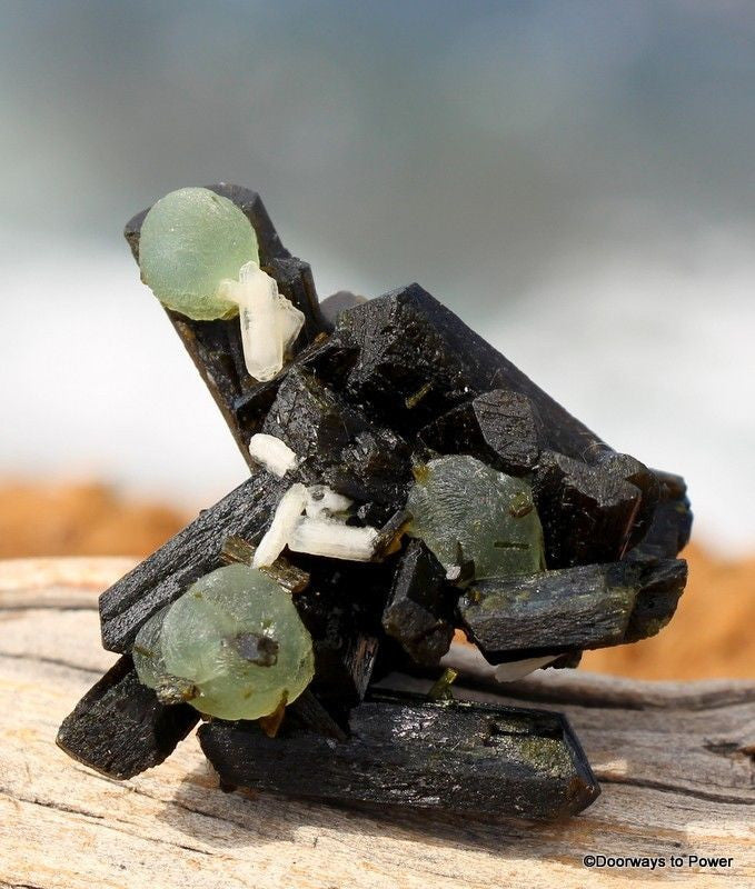 Epidote with Prehnite & Calcite