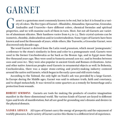 Garnet Metaphysical Properties