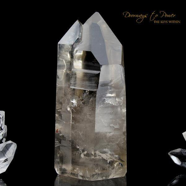 Golden Lemurian Seed Quartz Crystal Point