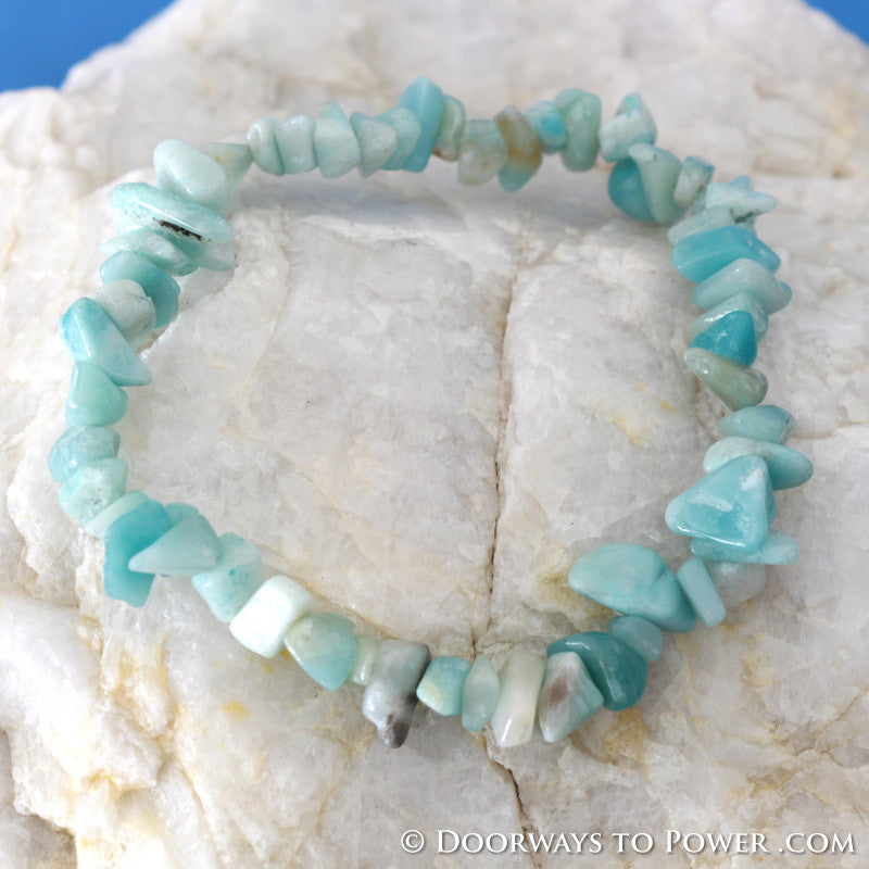 John of God Amazonite Crystal Energy Bracelet CAB-9