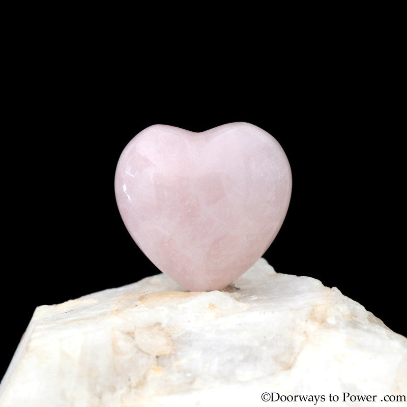 John of God Blessed Rose Quartz Heart JHH-3