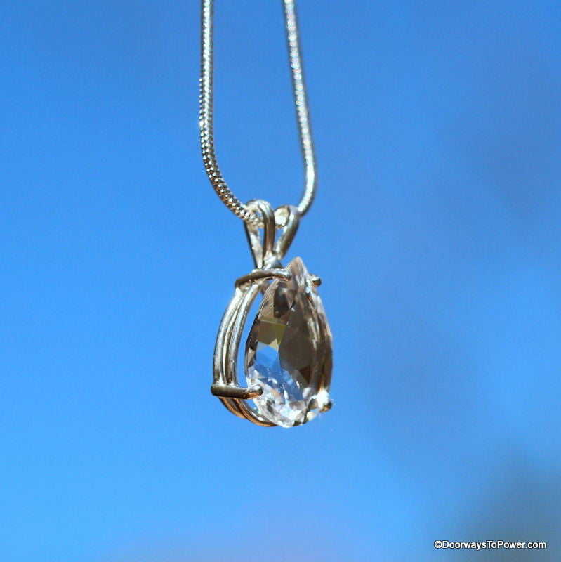 John of God Casa Crystal Tear Drop Pendant