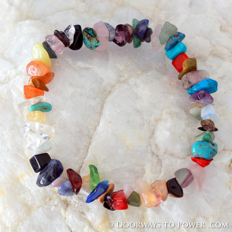 John of God Chakra Stones Crystal Energy Bracelet CAB-7
