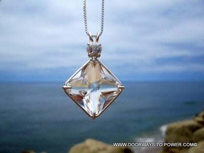 John of God Quartz Magician Stone Pendant