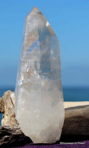 Lemurian Starseed Quartz Master Record Keeper Channeling Crystal