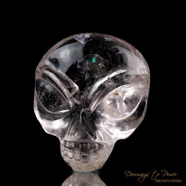 Leandro De Souza Morganite Hand Carved ET Crystal Skull