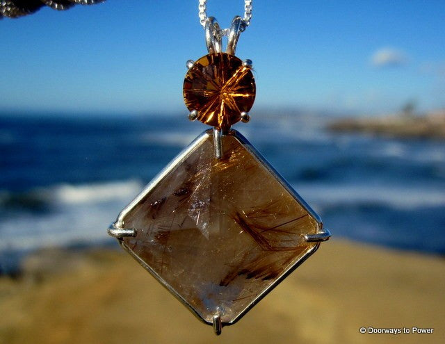 Rutilated Quartz Magician Stone Pendant