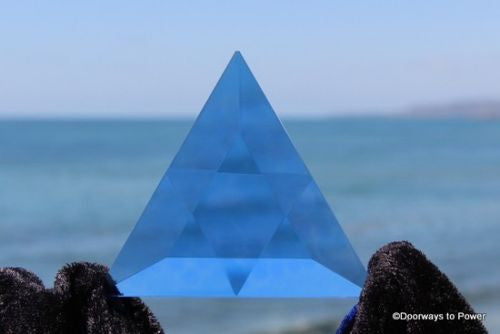 Siberian Blue Quartz Star of David Vogel Crystal