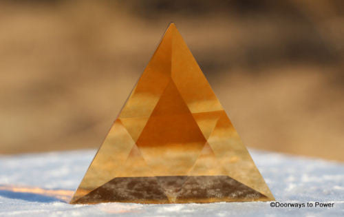 Siberian Gold Quartz Star of David Altar Stone
