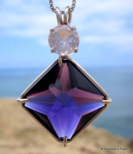 Siberian Purple Quartz Magician Stone w/ Morganite