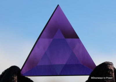 Siberian Purple Quartz Star of David Altar Stone