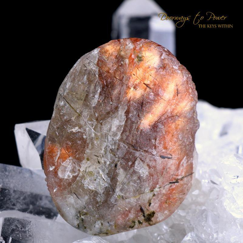 Sunstone Crystal Dragon Carving Talisman 'Pure Manifestation'
