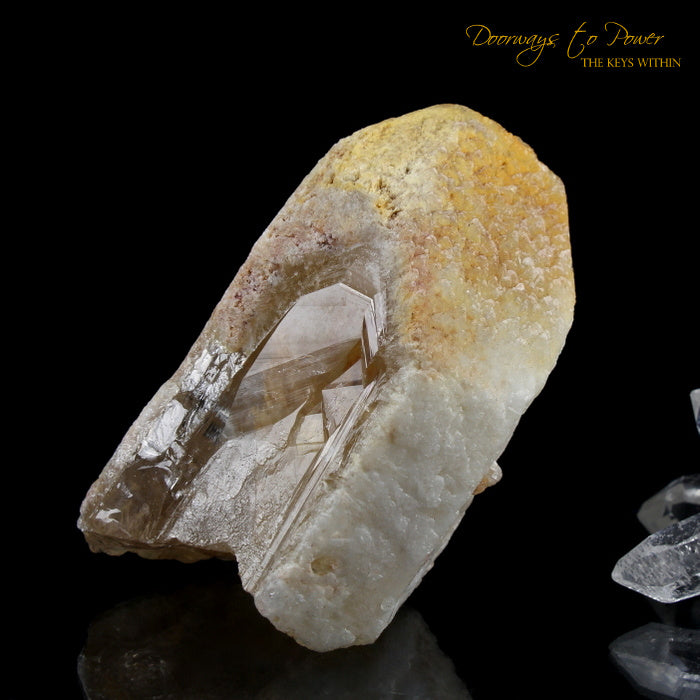Tangerine Dreamsicle Lemurian Quartz Crystal Record Keeper