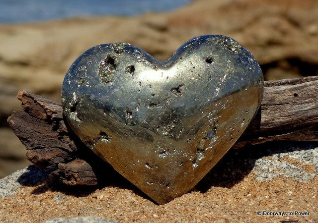 "Pyrite Heart 2.75"" Prosperity"