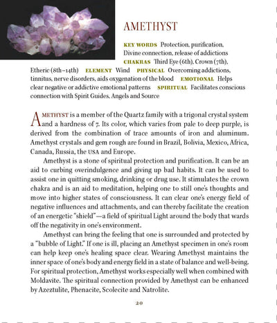 Amethyst Metaphysical Properties Book of Stones