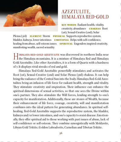 Himalaya Red Gold Azeztulite Metaphysical Meanings - Book of Stones