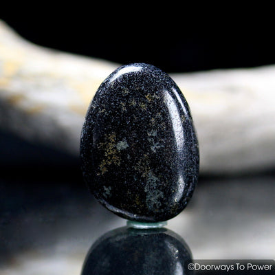 Midnight Lemurian Jade Crystal Tumbled & Polished