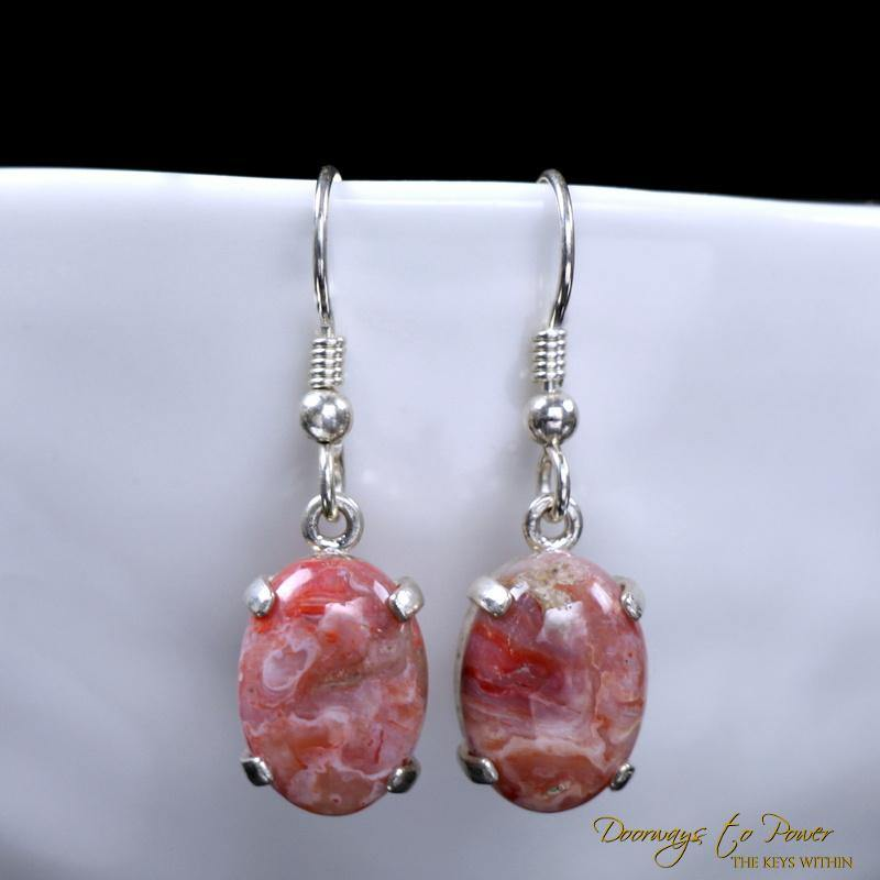Cinnazez Azeztulite Crystal Earrings