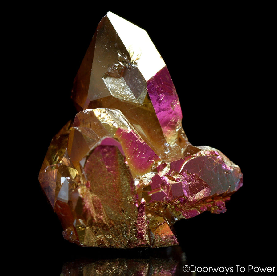 Golden Aura Pleiadian Starbrary Record Keeper Twin Quartz Isis Crystal Time Link