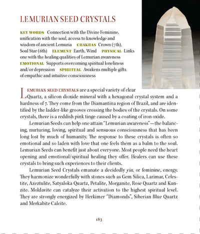 Lemruian Seed Crystals Book of Stones