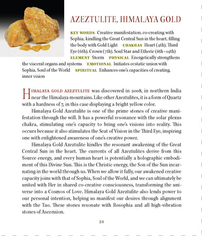 Himalaya Gold Azeztulite Metaphysical Properties Book of Stones