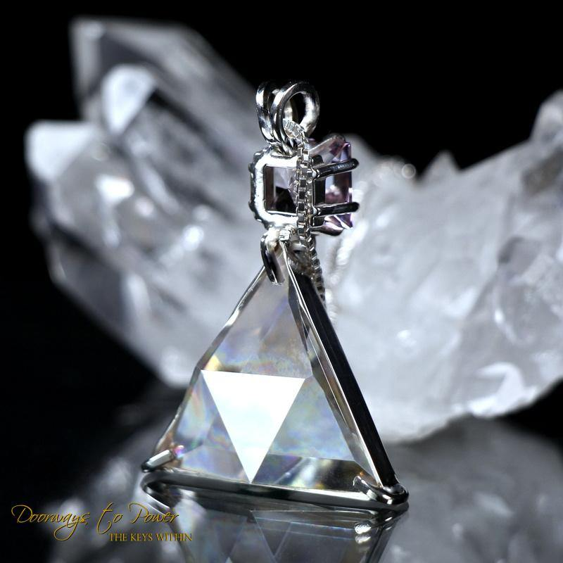 Clear Quartz & Kunzite Vogel Star of David Pendant