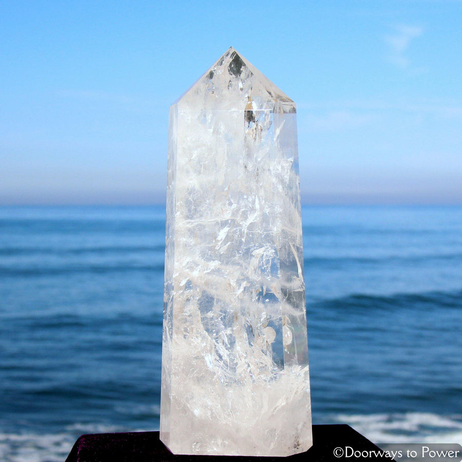 "17.5"" John of God Healing Quartz Casa Crystal Tower 'El·e·va·tion' 22 lbs"