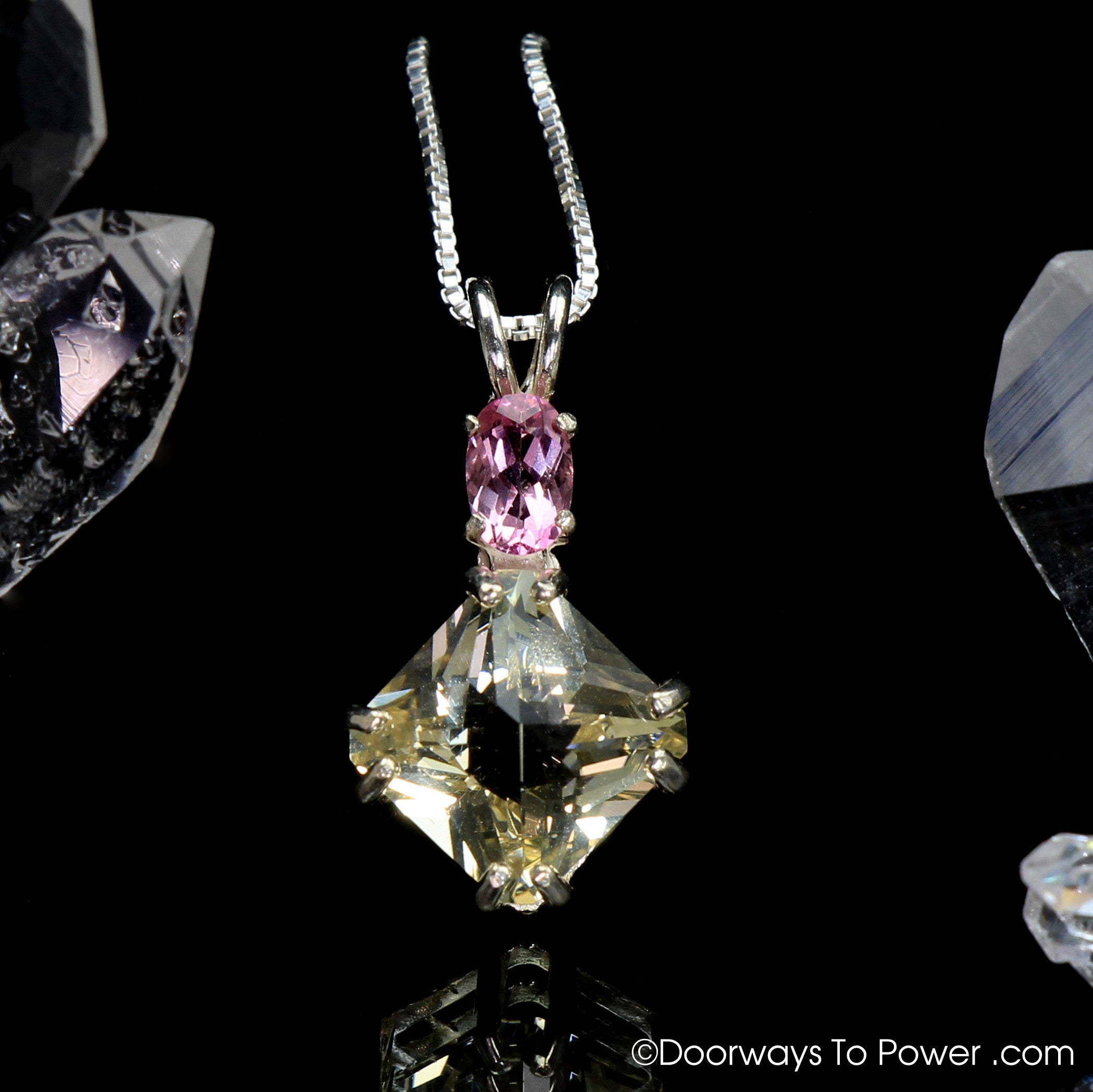 tourmaline depanthera pearl pink pendant product necklace and